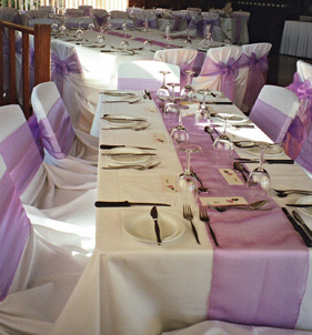 Use extra sashes as table runners